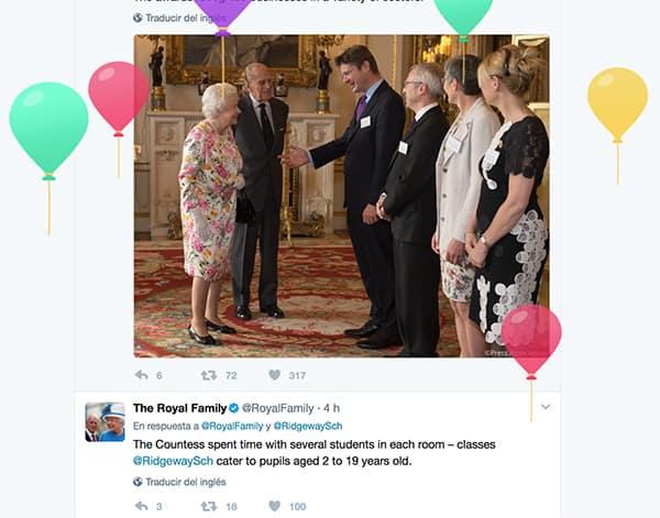 Reina Isabel II 91 años en Twitter