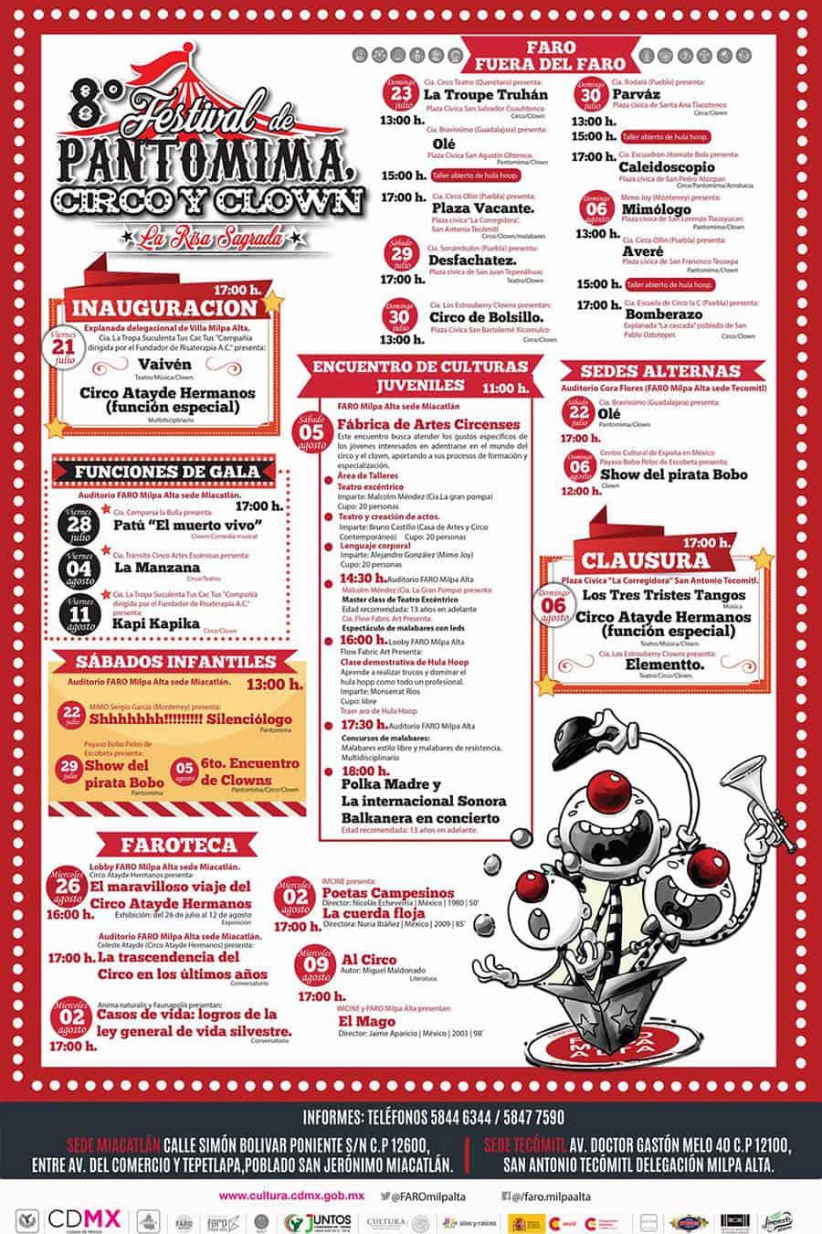 CDMX, Festival de Pantomima, Circo y Clown