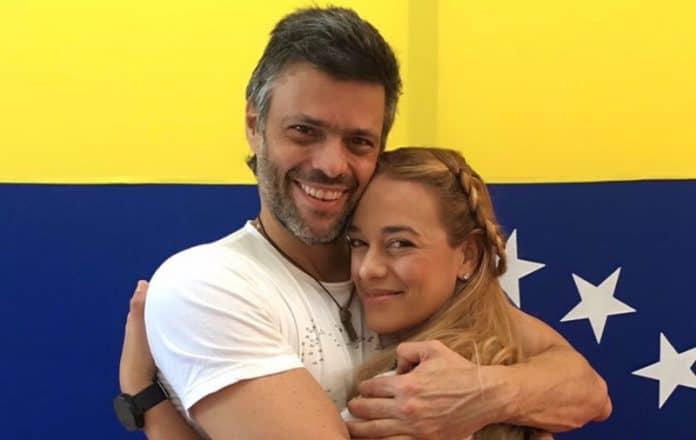 Lilian Tintori y Leopoldo López