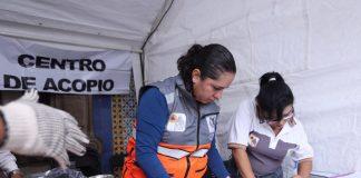 Centros de acopio para los damnificados por el sismo