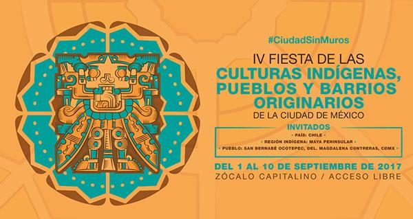 Inicia la IV Fiesta de las Culturas Indígenas 2017 en la CDMX