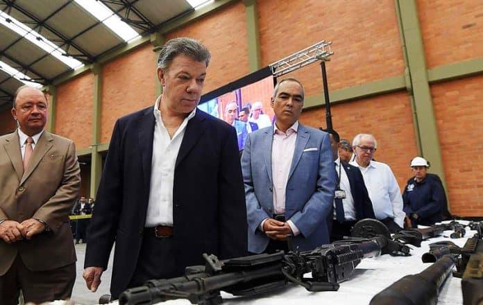 inhabilitación de armas entregadas las FARC-EP