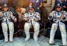 Así regresaron tres astronautas de la Estación Espacial Internacional