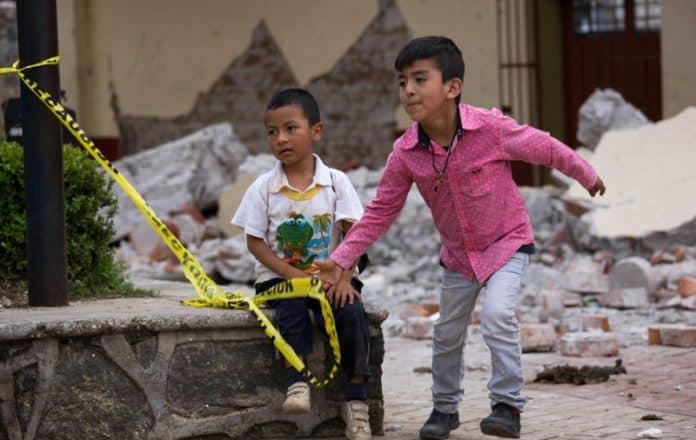 UNICEF niños afectados por los terremotos