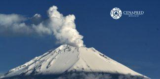 Popocatépetl actividad 27 de septiembre