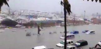 devastación en la Isla de San Martín