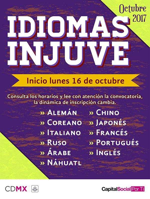 Idiomas INJUVE octubre 2017