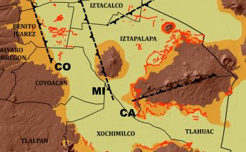 Mapa de fracturas suelo UNAM