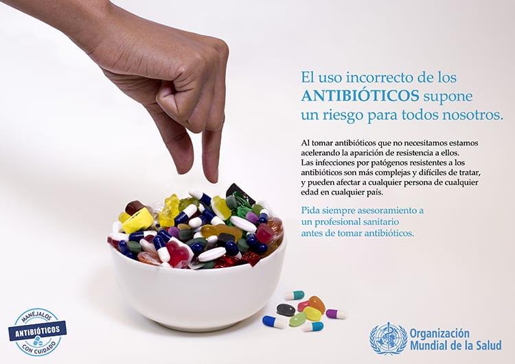 OMS uso excesivo de antibióticos