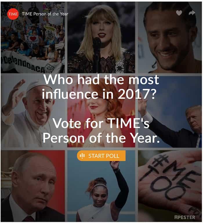 Revista TIME Trump persona del año 2017