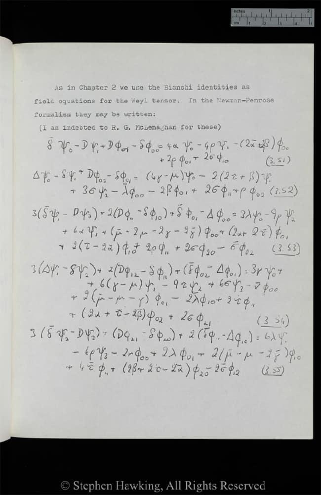 Tesis de Stephen Hawking