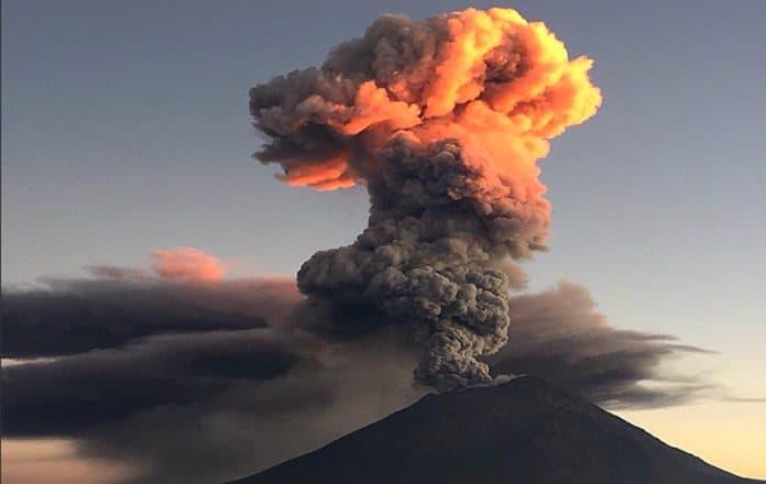 Evacuación Don Goyo Popocatépetl