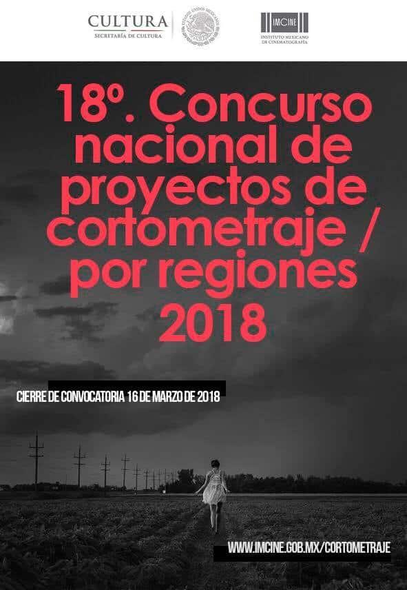 Cortometraje por regiones 2018 IMCINE