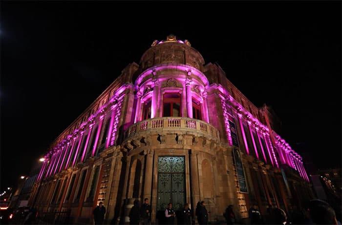 iluminación en el Templo Mayor