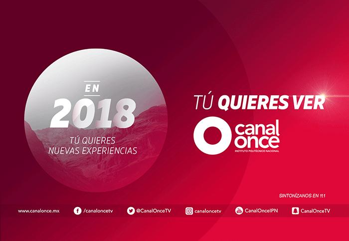 Programación Canal Once 2018