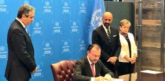 México firma el Acuerdo de Escazú