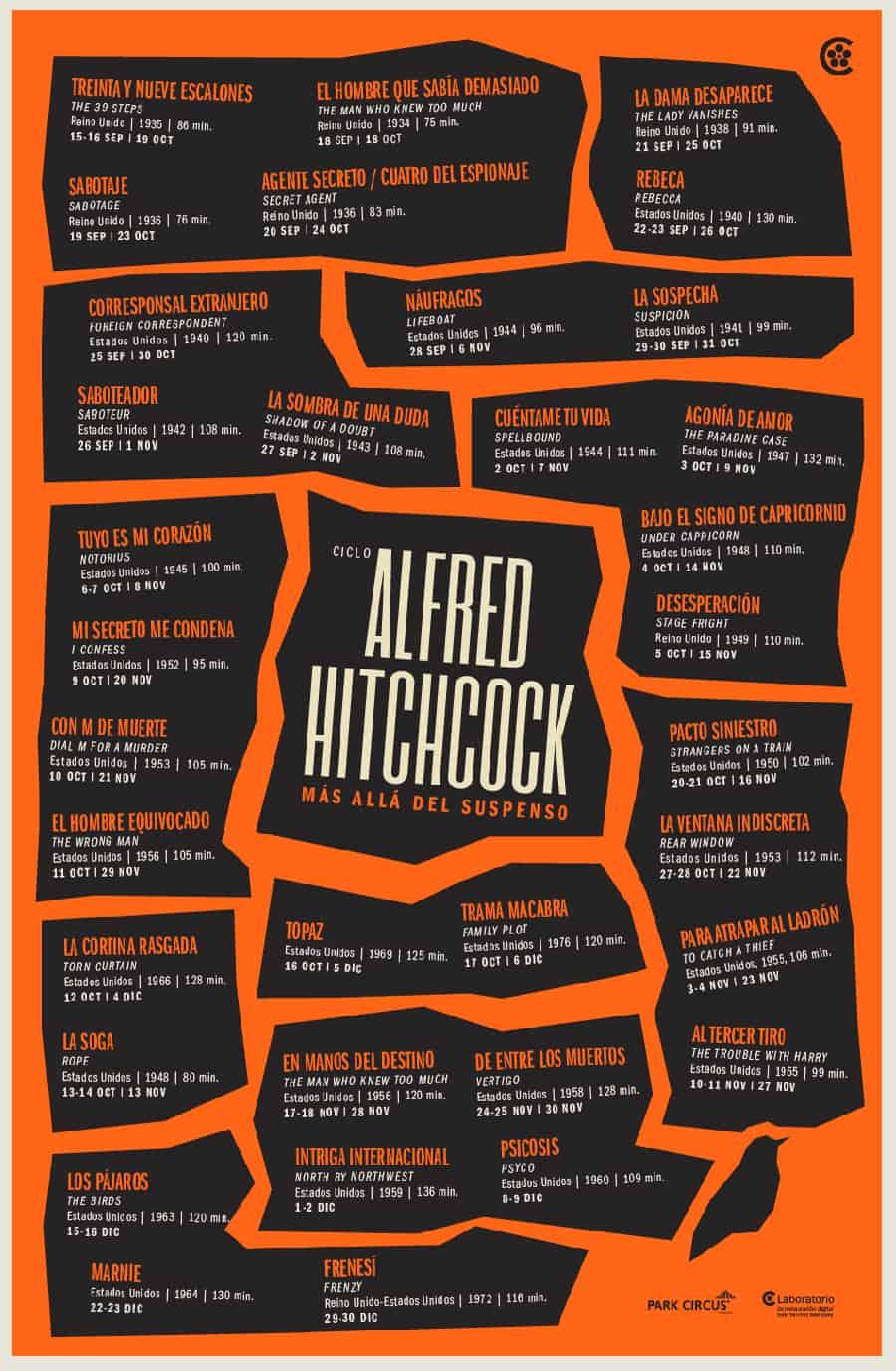 Hitchcock, más allá del suspenso. Cineteca Nacional