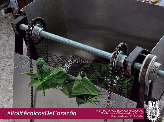 IPN ESIME sistema de extracción de lirio en Xochimilco