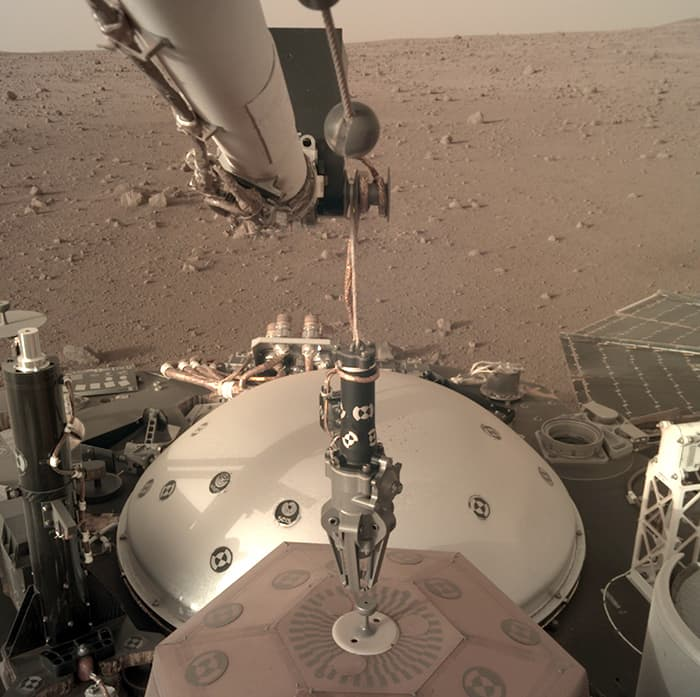Insight selfie en Marte