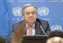 marca más vendida en el mundo es es el miedo Antonio Guterres