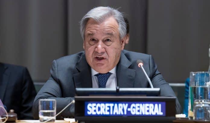 Antonio Guterres pisar el acelerador cambio climático