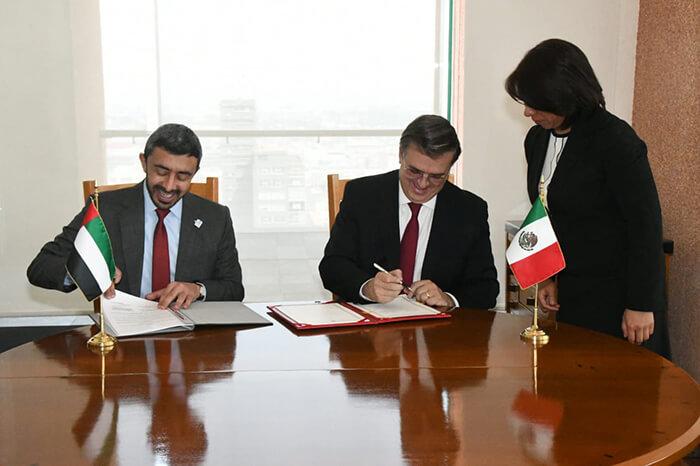 México y Emiratos Árabes Unidos agenda bilateral
