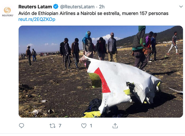 ONU accidente aéreo en Etiopía