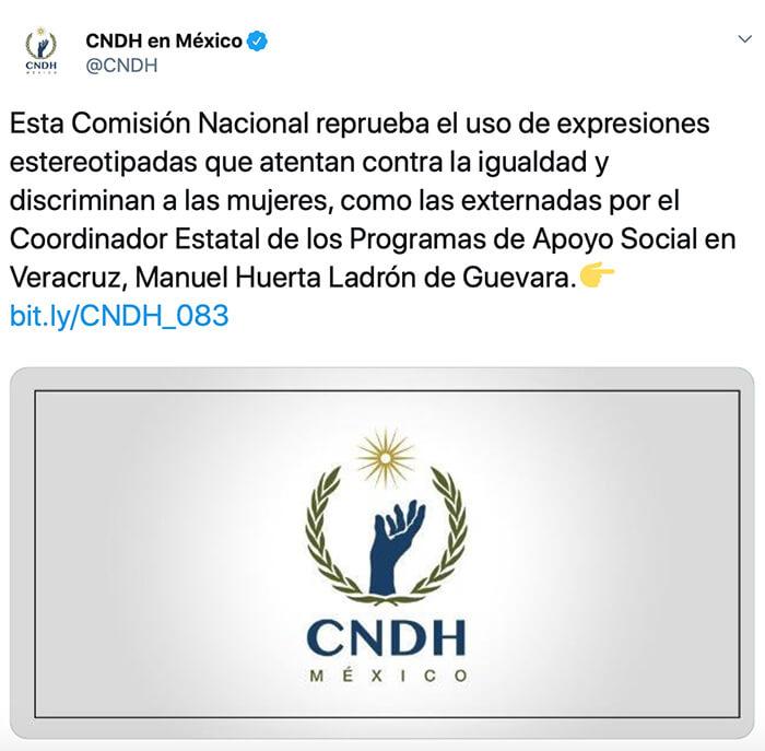 CNDH expresiones discriminatorias funcionario de Morena