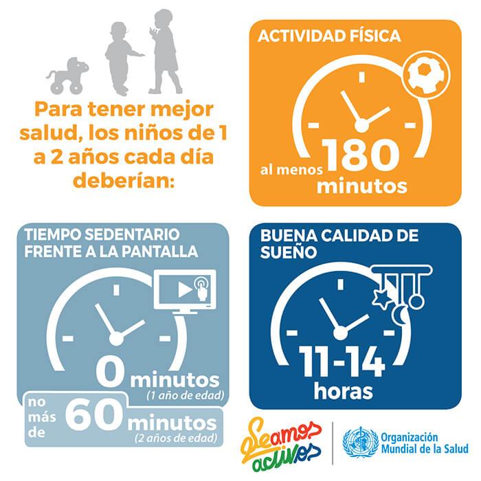 OMS más actividad física para los niños